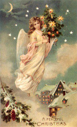 Christmas vintage angel